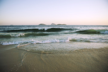 Ipanema Beach Rio de Janeiro Brazil Scenic Islands