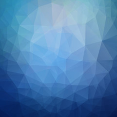 Abstract blue background, triangle design vector illustration