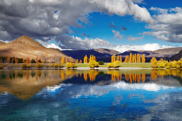 Fototapete - Lake Benmore, New Zealand
