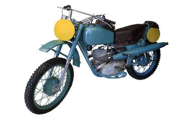 old blue sport bike