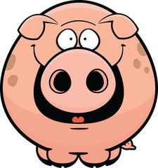 Cartoon Pig Happy