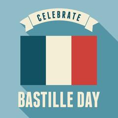 Bastille Day Card Design
