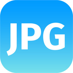 File JPG sign icon. Download image file symbol. Blue button.
