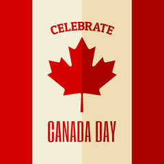 Canada Day Card Design