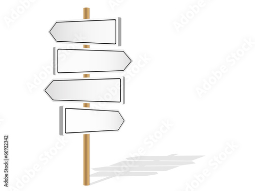 blank signposts template decision making road signs stock image