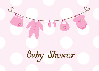 vector baby shower card