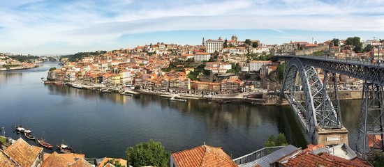 Deurstickers Noord Europa Oporto panoramic