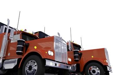 Semi Trucks Convoy