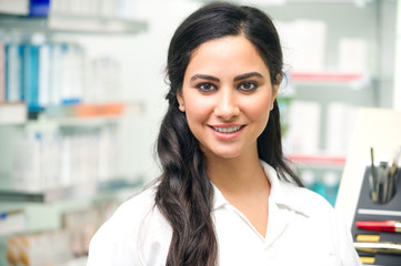Portrait of a medical personnel, doctor in pharmacy