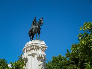 Monument Ferdinand III Plaza Nueva Seville