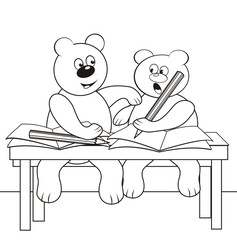 bears in the classroom-coloring book