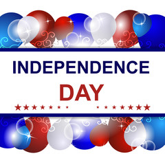 Independence day vector illustration with USA design