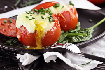Eggs in a Cup or Baked Tomato