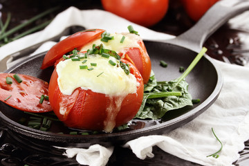 Eggs Baked in Tomato