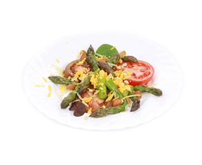 Fresh asparagus salad.