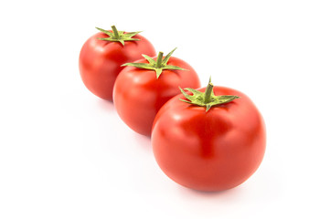 Wall Mural - Arrenged Three Tomatoes - Clipping Path Inside
