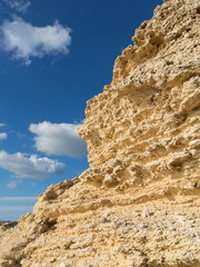 Typical maltese limestone rock