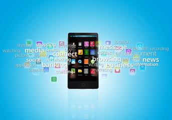 Wall Mural - Multimedia Smart Phone