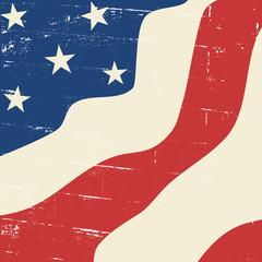 Abstract Vintage US Flag