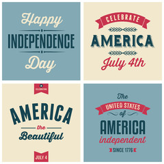 US Independence Day Cards Collection