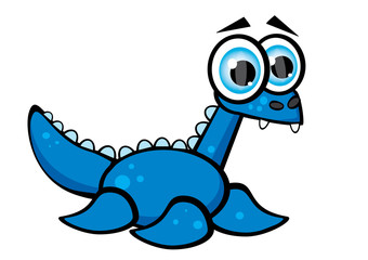 niebieski dinozaur wodny