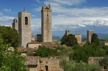 Fototapete - San Gimignano, Tuscany, Italy