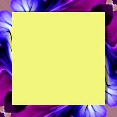 Textfeld mit lila Rahmen abstrakt Hornveilchen