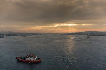 Morgendämmerung auf dem Weg nach Istanbul
