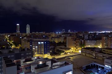 Türme Port Vell Barcelona Nacht