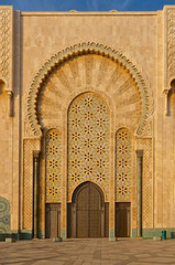 Ornate gates of a Moroccan mosque