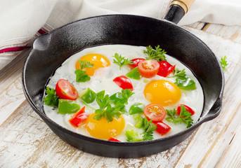 Foto op Canvas Gebakken Eieren Fried eggs