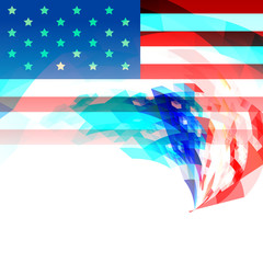 creative 4th of july america background