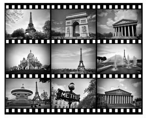 Pellicule en noir et blanc de Paris