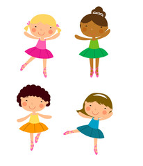 Four little dancer