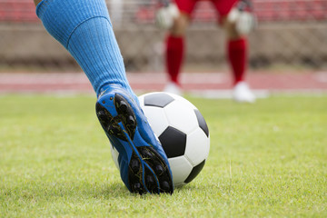 soccer player will be shooting