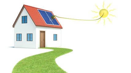 Solar energy. House