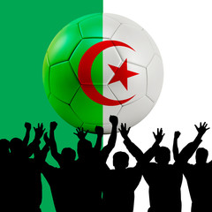 Mass cheering with Algeria Soccer ball