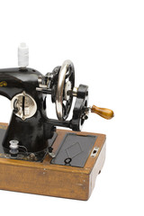 sewing-machine on the white background
