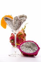 Fruchtfleisch der Pitaya in einem Glas