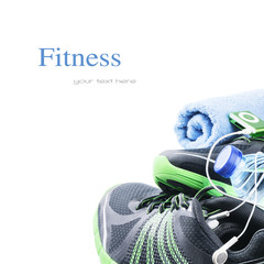 Sport shoes and gym accessories