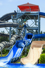 View on waterpark