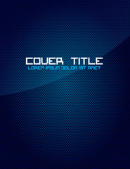 Blue Carbon Fiber Cover