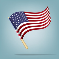 American flag. Vector illustration