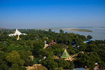 Mingun Pagoda View  , Mingun in Myanmar (Burmar)