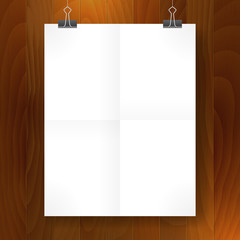 poster fold blank paper vector template