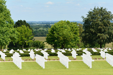 Rows of graves US Military World War Two cemetery