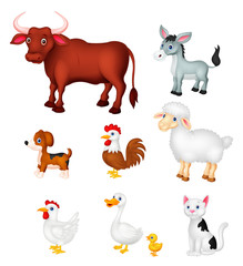 Farm animal collection set