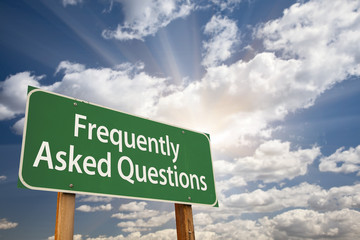 Frequently Asked Questions Green Road Sign