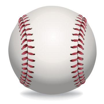 Isolated Baseball Illustration