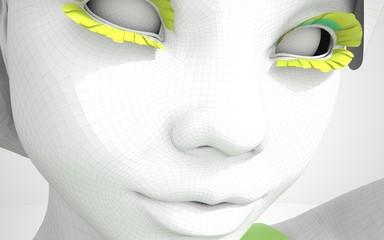 Segmented art girl model